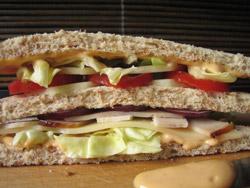 Sandwich americain jambon recette