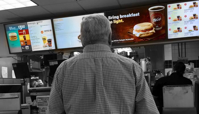 Comptoir fast-food