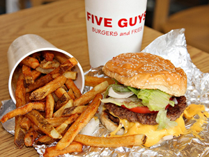 Le 1er restaurant Five Guys