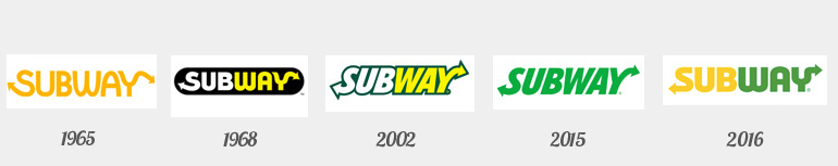 les logos Subway