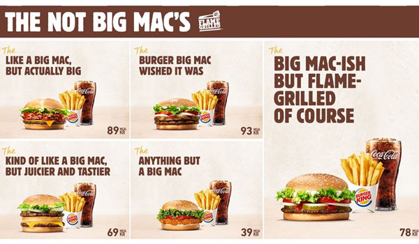 Burger King se moque de McDo et de son Big Mac perdu