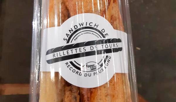 A Tours, on bat le record du sandwich aux rillettes