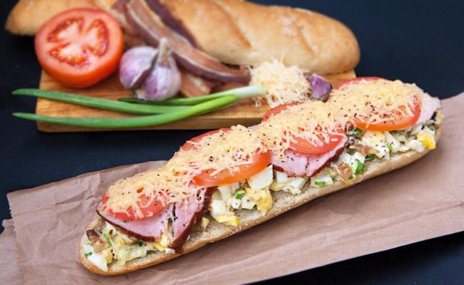 sandwich bon r veil recette aux oeufs au jambon et au fromage. Black Bedroom Furniture Sets. Home Design Ideas