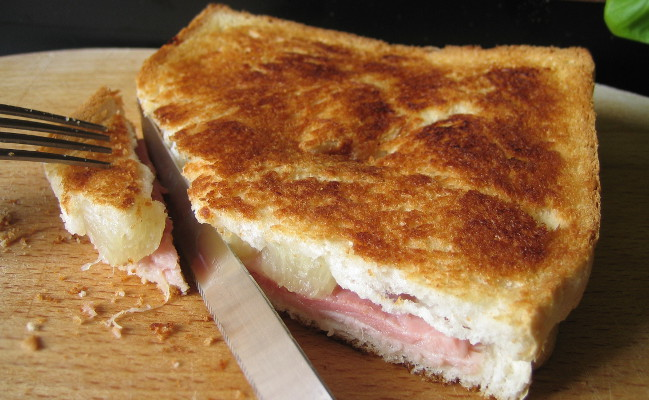 Croque-monsieur Hawaïen