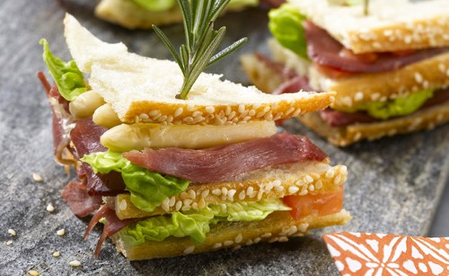 Sandwich mini club rtro recette de sandwich froid - Recette sandwich froid baguette ...