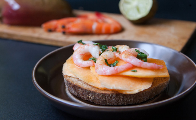 tartine  u00c9quateur   recette de tartine au crabe  avocat  mangue